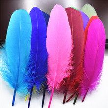 Hard Pole Natural Goose Feathers for Crafts Plumes 6-8inch/15-20cm Jewelry Duck Pheasant Feather Wedding Home Decoration 15 20cm high quality whitel goose feather for diy colorful feather decoration wedding feathers for crafts accessories plumes