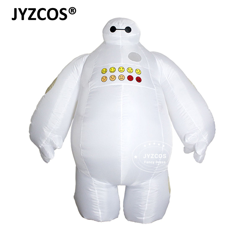 Halloween Funny Big Hero Adults Inflatable Baymax Costume for Women Men 2m Tall Fancy Suit Mascot Cosplay Outfit for Christmas
