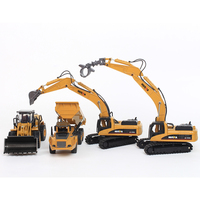 High simulation alloy engineering vehicle model 1:50 alloy excavator dump truck toys metal castings toy vehicles kids toys