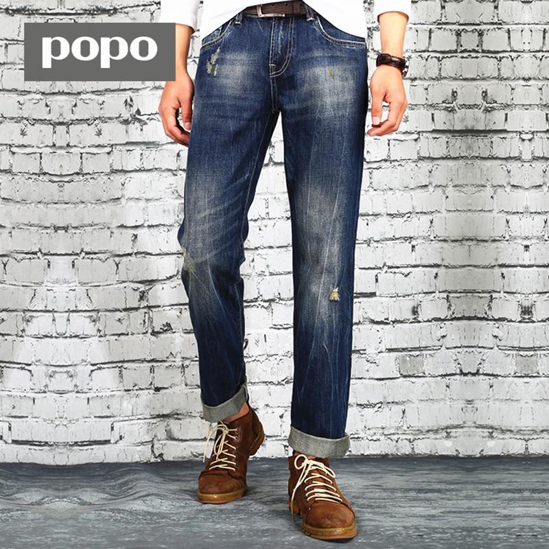 ФОТО Mens Business Large Big Size Brand Straight  Meth Denim Pants Jeans Washing Trousers Slim Mid Waist Pant Jeans Free Shipping