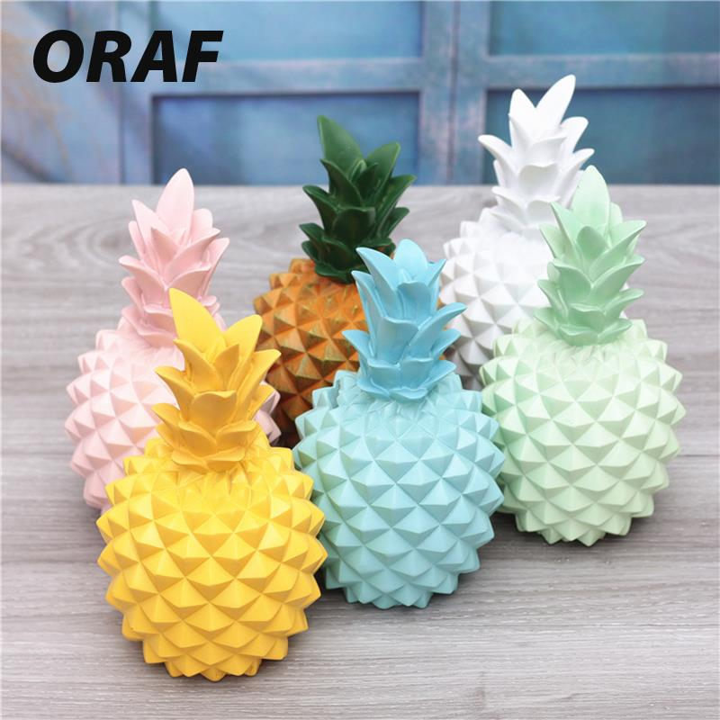 Creative Pineapple Ornaments Zakka Lake Blue Goldplating Lovely Ceramics Pink Ornament Pineapple Home Decor Party Birthday Gift