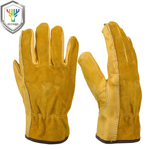 Image 2 - OZERO New Mens Work Gloves Cowhide Driver Security Protection Wear Safety Workers Welding Moto Gloves For Men 1008
