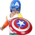 2016 The Captain America Hero Shield The winter Soloier Light-Emitting 30 cm + Captain Mask Cosplay Boys Toy free ship