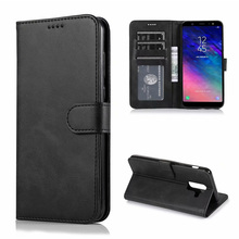 For Samsung Galaxy A6 Plus Case High Quality Flip Leather Cases For Samsung Galaxy A6 Plus Stand Case PU Leather Cover цена 2017