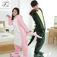 Spring Autumn Adults Onesie Pink Green Dinosaur Pajama Unisex Onesie Pyjamas Sleepwear Dinosaur Costumes