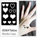Desechables tatuaje plantilla, desmontable, la creación artística, de moda, piel disponible, tatuajes, Love698