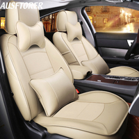 AUSFTORER Cowhide Leather Covers Seat for Mercedes Benz CLA 200 180 220 250 260 Seat Cover Sets Accessories Car Cushion Protecor