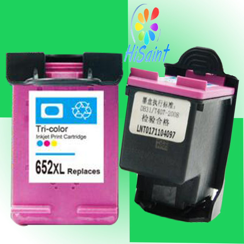hisaint For HP 652 Ink Cartridge For HP Deskjet 1115 1118 2135 2138 3635 3636 3835 4535 4536 4538 4675 4676 4678 printer картридж hp f6v24ae bhk для deskjet ink advantage 1115 2135 3635 трёхцветный 200 страниц hp 652