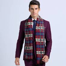 Winter Scarf Men Tartan Foulard Luxury Brand Cashmere Scarf Foulard Men Casual Rhombus Business Scarf YJWD352