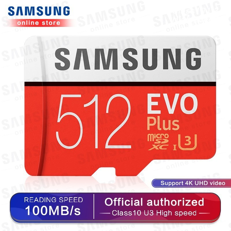 Samsung Memory Card Micro Sd Evo Plus 512gb Sdhc Sdxc Grade Class10 C10 Uhs-1 Tf Cards Trans Flash 4k Microsd