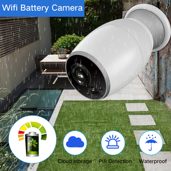 SDETER Cloud Wireless WIFI IP Camera Rechargeable Battery Powered Outdoor Weatherproof 720P Security CCTV Camera Two Way Audio surveillance camera