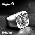 Beier anel de banda de casamento anel de aço inoxidável 316l para homens águia anel bijuterias br8-320