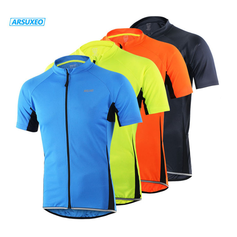 ARSUXEO Cycling Jersey MTB Clothing Bike Wear Clothes Short Men Ropa Ciclismo Breathable Short Sleeves 4 Pockets Bicycle Jersey cycling clothing summer men cycling jerseys bike clothing bicycle short ropa ciclismo breathable sportwear bike clothes page 4