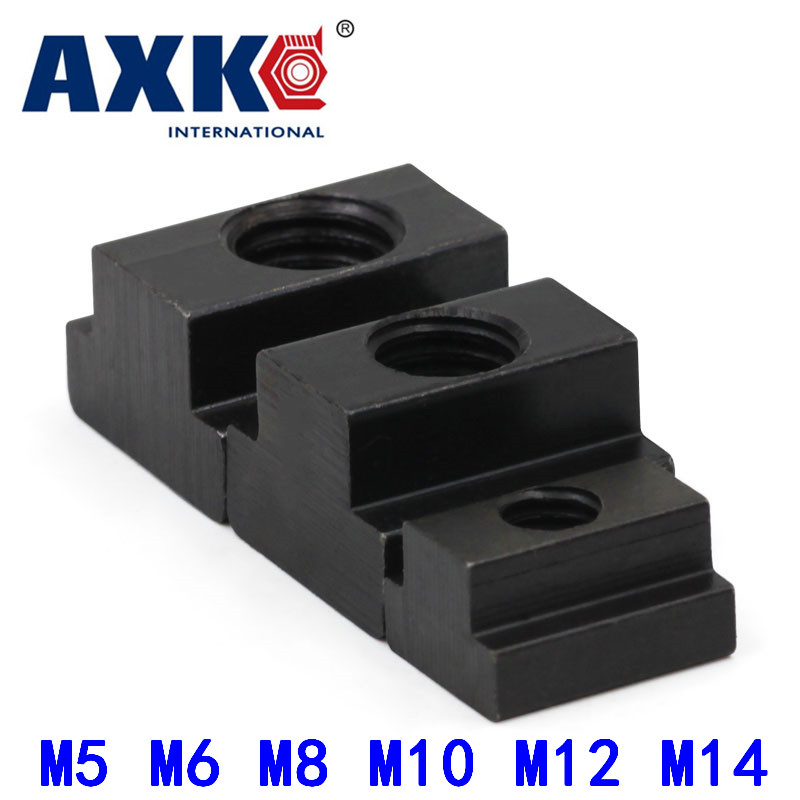 5Pcs M5 M6 M8 M10 M12 M14 DIN508 Black Oxide Finish Grade 8.8 Carbon Steel T-Slot Nut Tapped Through Slot T-nuts Furniture HW113