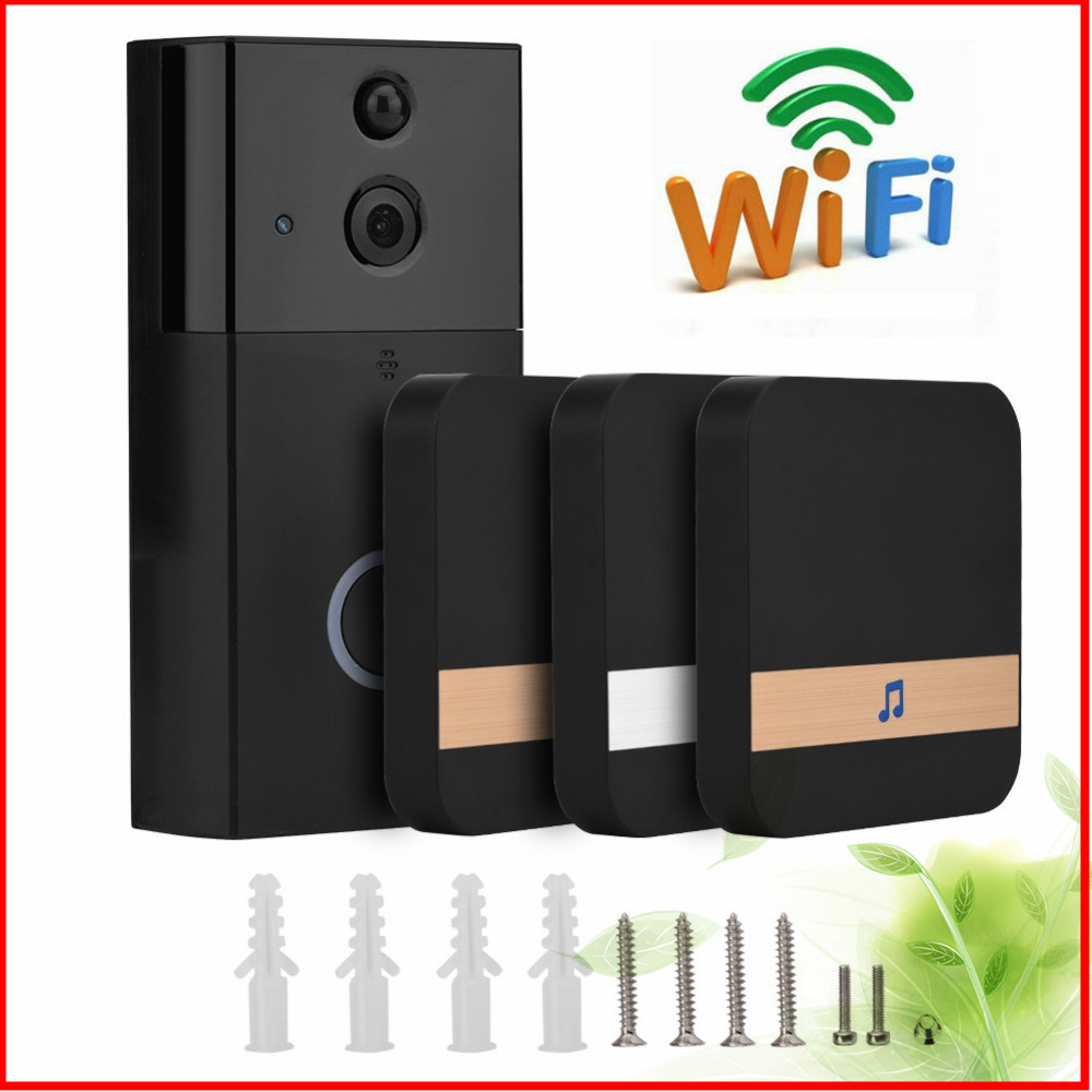 720P HD Wireless Video Door Phone Smart WiFi Camera Video Doorbell Security Camera With PIR Motion Detection Night Vision 1MP