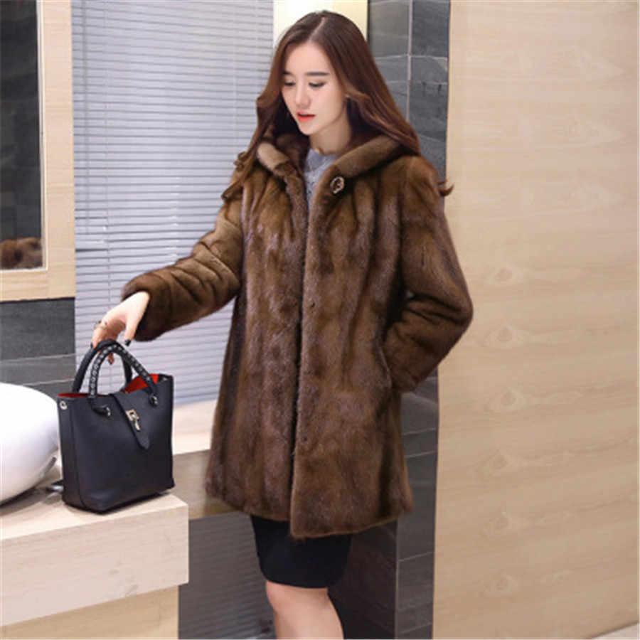 a262dca635e ins European Artificial fur mink coat women s full length 2019 new women s  jacket tight size large