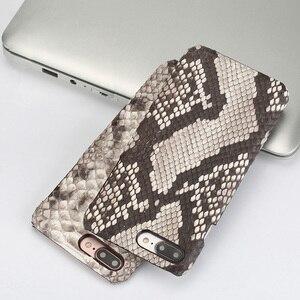 Image 5 - Funda de piel auténtica para iPhone SE 2020, 7, 8, X, XS, Max, XR, 6s, 5s, 5, 6, 7, 8 plus, 12 Min, 11 pro, max, piel de serpiente, marvel