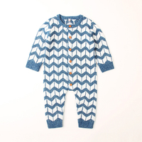 Baby Kintted Clothing Pajamas Baby Rompers Baby Clothes Long Sleeve Underwear Cotton Costume Boys Girls Autumn