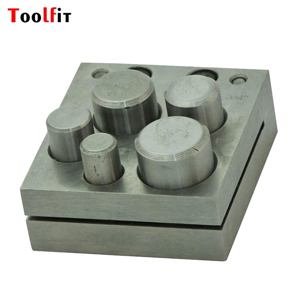 Toofit пробивая плашки с 4 отверстиями ювелирных изделий для приготовления ювелиры диск резак металла Дапинг инструменты 1 шт./лот