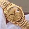 Мужские часы 18K золотые часы 40 мм сапфировое зеркало 228238 серия высококачественный календарь из нержавеющей стали мужские наручные часы