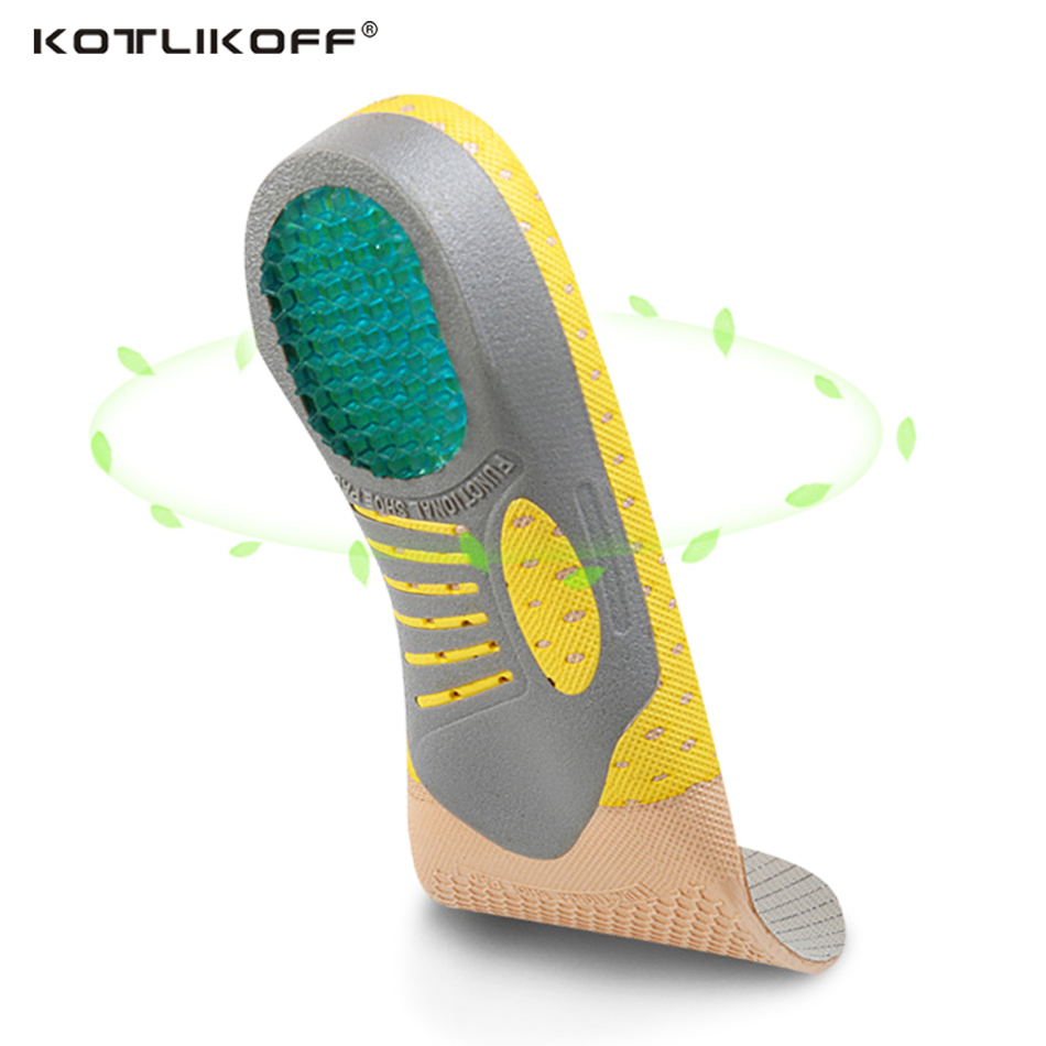 KOTLIKOFF Functional arch orthopedic insoles shock absorption orthopedic pad for running sporting foot pain relieve shoe pads sports insloes women shock absorban insoles for shoes soft shoes pad orthopedic pad for running sporting foot pain shoe insole