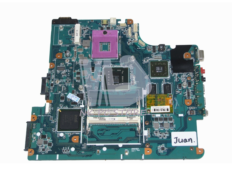 A1665245A MBX-195 M791 Notebook PC Motherboard For Sony Vaio VGN-NS Main Board DDR2 PM45 ATI HD with Free CPU