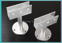 Free Shipping 8cm Glass Clamps Glass Support Bracket Feet Glass Holder Glass Partition Support Leg Hotel