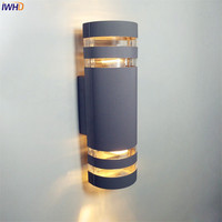 IWHD Outdoor Lighting Waterproof Outdoor Wall Light For Garden Porch Balcony Wall Lamp Outdoor Exterior Luminaire Outside