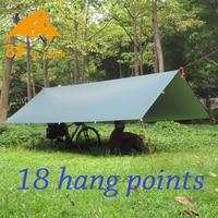 3F UL Gear Ultralight Tarp Outdoor Camping Survival Sun Shelter Awning Silver Coating Pergola Waterproof Beach