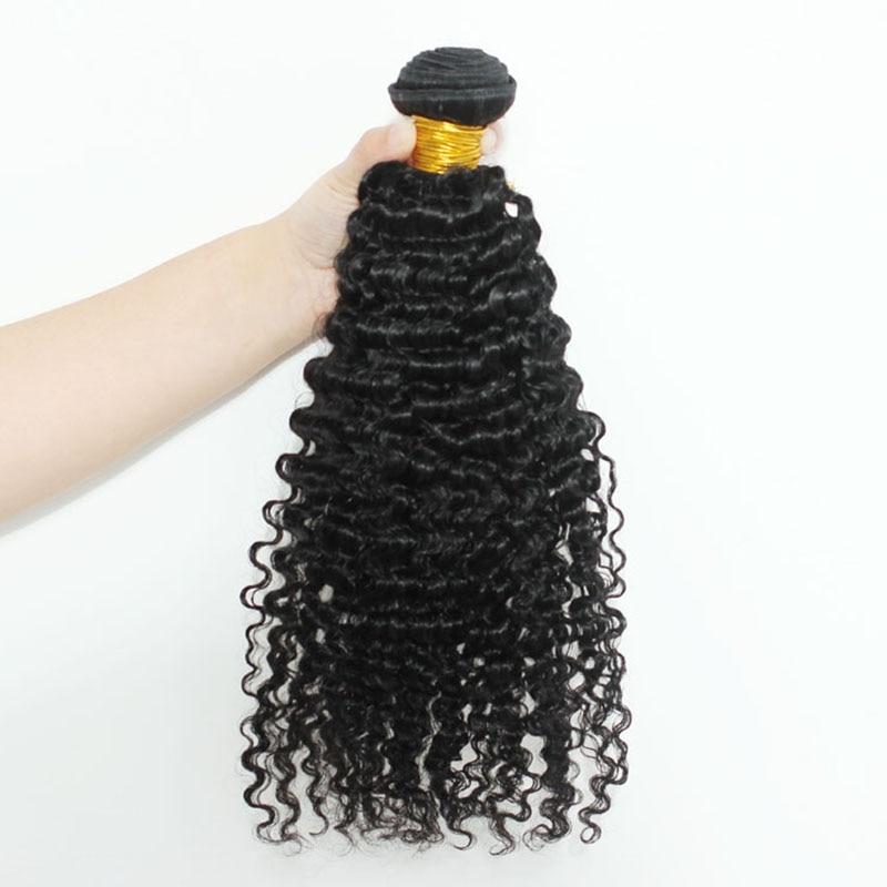 3B 3C Kinky Curly Hair Bundles Brazilian Hair Weave Bundles 100% Remy Human Hair Extensions 30 Inch Bundles 1 Pc Only Black