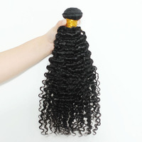 3B 3C Kinky Curly Hair Bundles Brazilian Hair Weave Bundles 100% Remy Human Hair Extensions 30 inch Bundles 1 Pc Only Black