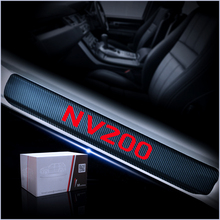 Car Door Threshold Plate For Nissan NV200 Carbon Fiber  Sticker Sill Scuff Styling 4Pcs Auto Accessories