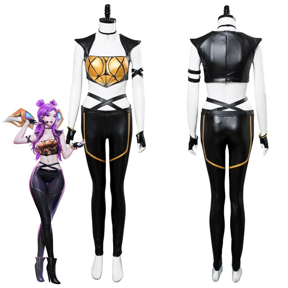 LOL Cosplay Daughter of the Void Kaisa KDA Cosplay Costume For Girls Kaisa Costume Dress Full Suit Outfit