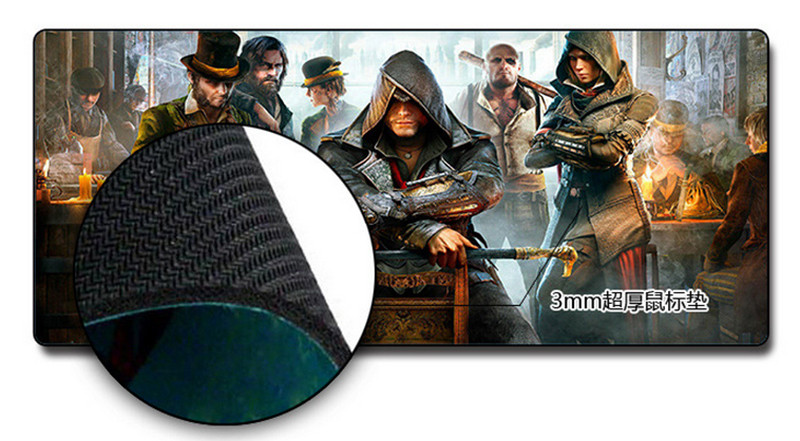 New Rubber Gaming XL Large 700300mm Mouse Pad Mat Mice For Optical Trackball PC_8