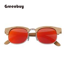 New Spot Bamboo and Wood Sunglasses Frame Mirror Fashion Simple Trend Polarized UV400 Men Womens