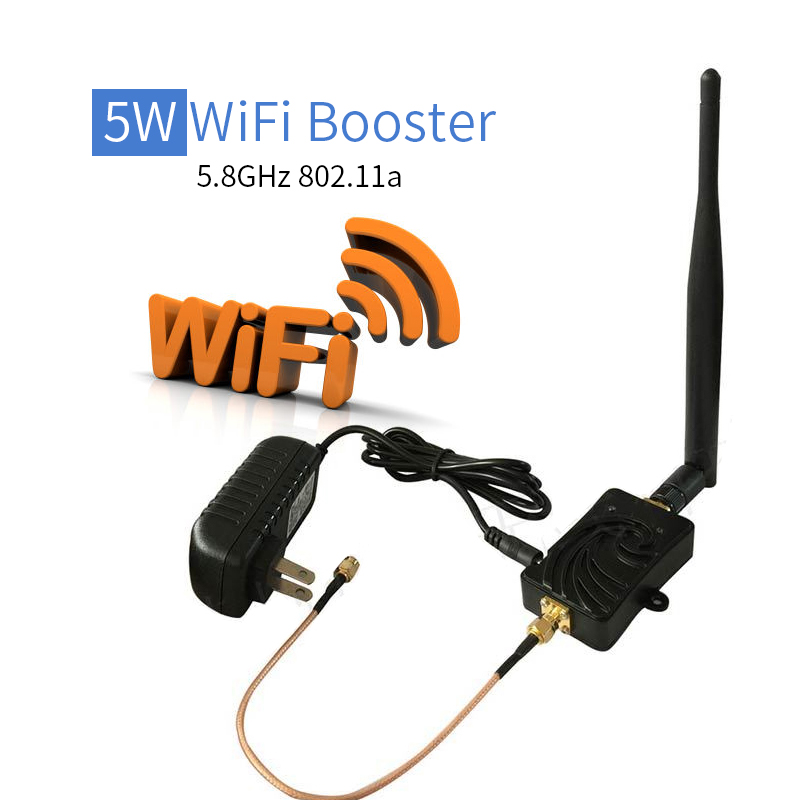 Stock! 5W Wireless Broadband Amplifiers Wifi Signal Extender 5.8GHz Repeater amplifier WiFi Signal Booster for Home Router