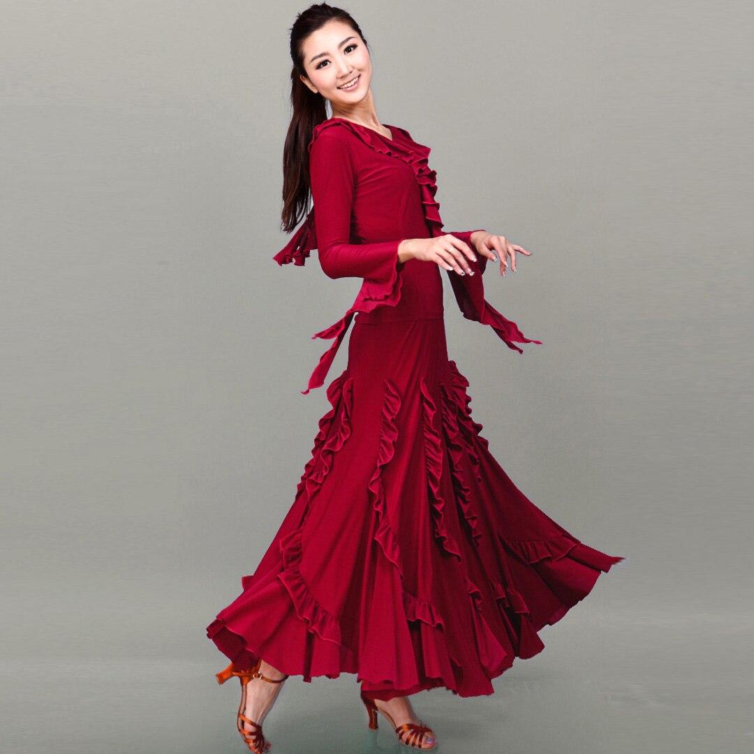 High-quality hot dress popular skirt skirt dress Slim Fashion Ballroom dancing large new practice dress