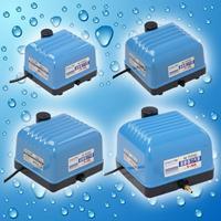 10 w Electromagnética Compresor De Aire De Alto Flujo De Oxígeno Del Acuario Fuente del Estanque de la Bomba de Aire Para El Tanque de Pescados Con Divisor de la Válvula