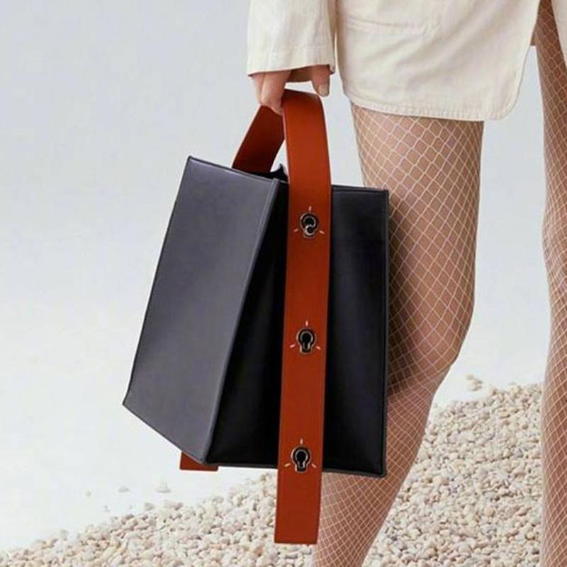 Maihui kobiet torebki ze skóry panie Patchwork wzór Top torby z uchwytami nowe mody dziewczyny torby na ramię jakości torba composite w Torebki na ramię od Bagaże i torby na  Grupa 1