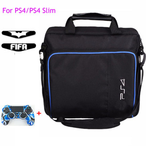 Image 1 - For PS4 / PS4 Pro Slim Game Sytem Bag Original size For PlayStation 4 Console Protect Shoulder Carry Bag Handbag Canvas Case