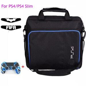 Image 1 - Ps4/ps4 프로 슬림 게임 시스템 가방에 대 한 원래 크기 플레이 스테이션 4 콘솔에 대 한 보호 어깨 캐리 가방 핸드백 캔버스 케이스