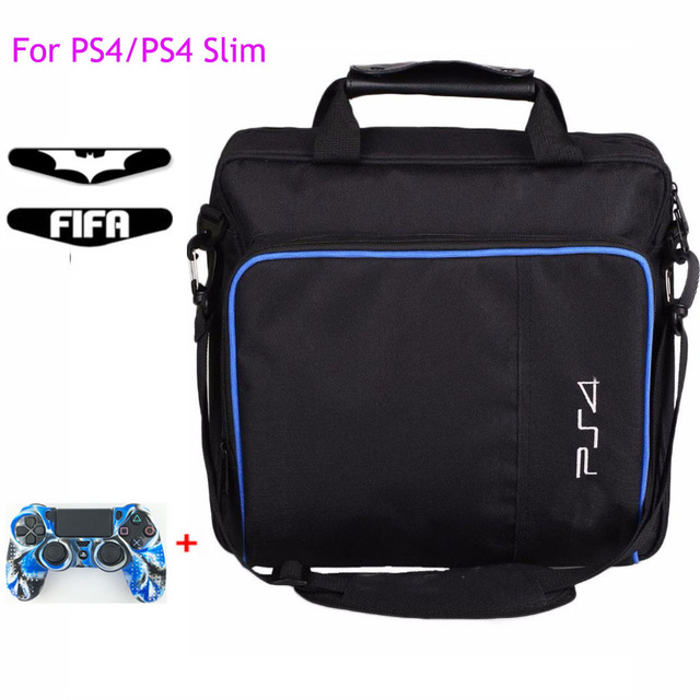 Ps4/ps4 프로 슬림 게임 시스템 가방에 대 한 원래 크기 플레이 스테이션 4 콘솔에 대 한 보호 어깨 캐리 가방 핸드백 캔버스 케이스