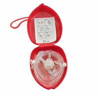 50Pcs/Lot CPR Pocket Resuscitation Face Mask First Aid Training One way Valve Filter Bigger Red CPR Mask Emergency Rescue Kit