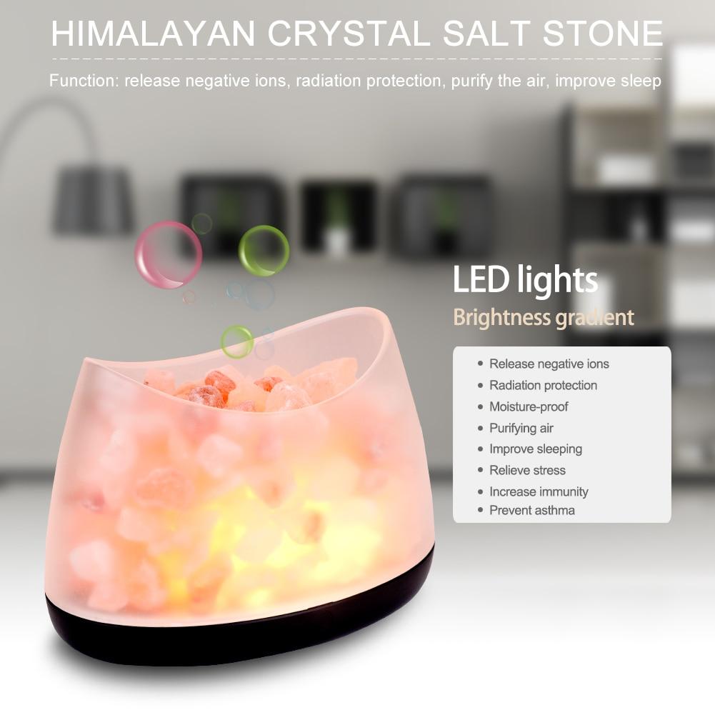 где купить Himalayan Salt Lamp Natural Air Purifier Rock Salt Stone Lamp Desk For Aisle Bedroom Bedside Home Decoration Lighting по лучшей цене