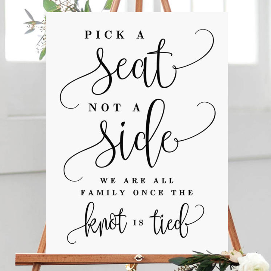 Wedding Seating Sign Stickers for Wedding Ceremony Stylish Decoration Simple Vinyl Wall Decals Sticker Pick A Seat Decal S418