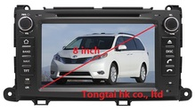 8″ Android 4.4.4 for TOYOTA Sienna XL30 2013 car DVD player,gps navigation,BT,ipod,3G,Wifi,cortex A9,1GB,TDA7786,Russian,english