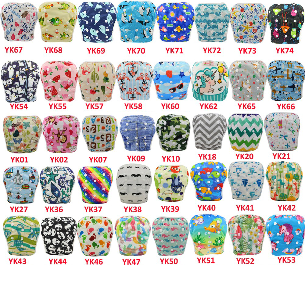 Ohbabyka Baby Swimming Diapers Reusable Nappies Newborn Cloth Diaper Infant Swimwear Adjustable Swim Diaper Cover 20pcs/lot