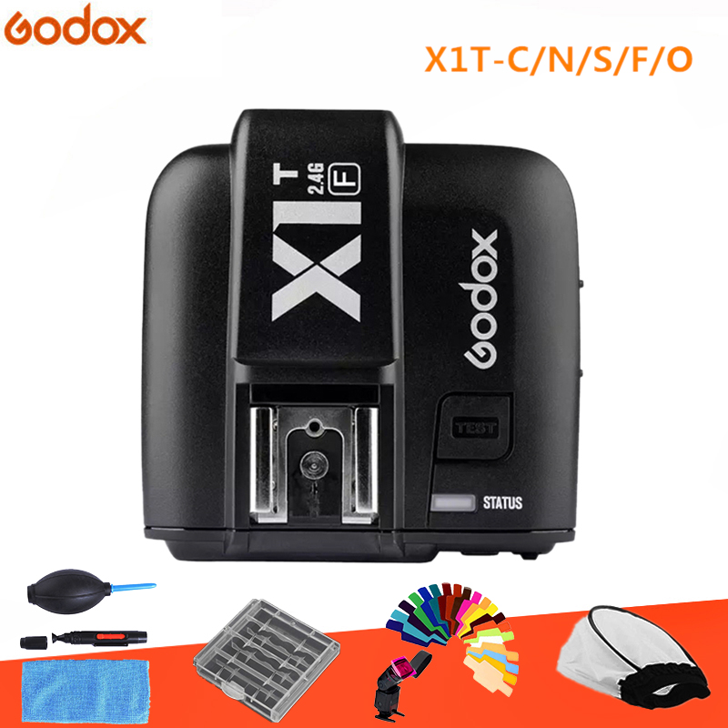 GODOX X1T-F X1T-C X1T-S X1T-O X1T-N 2.4G Wireless TTL HSS Flash Trigger Transmitter for Canon Nikon Sony Fujifilm Olympus Camera 2pcs godox v860ii ttl speedlite flash gn60 hss 1 8000s with li ion battery x1t c n f s for canon nikon sony fujifilm olympus