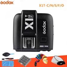 GODOX X1T F/X1T C/X1T S/X1T O X1T N 2.4G bezprzewodowy TTL HSS wyzwalacz lampy błyskowej nadajnik do Canon Nikon Sony fujifilm aparatu Olympus
