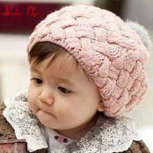Новинка года, зимняя шапка для маленьких девочек, модный бренд, детские вязаные береты, милые детские шапочки-бини для малышей, аксессуары для головы, 1 предмет, От 2 до 4 лет